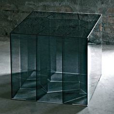 """Glas Italia Alice Modern Side Table by Jean-Marie Massaud 