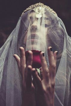 Love this veil. Dark Photography, Portrait Photography, Fashion Photography, Wrath And The Dawn, Mystique, Dark Beauty, Beauty And The Beast, Character Inspiration, Writing Inspiration