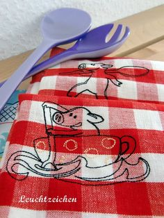 """""""Little Pig in the Cup"""" at www.AnjaRiegerDesign.com here: http://www.anjariegerdesign.com/embroidery-designs/pigs.html #embroidery #AnjaRieger #crafts #DIY #pigs"""