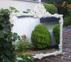 MIrror   shabby chic vintage by backporchco on Etsy, $195.00