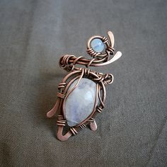 Fair Masters - handmade necklace with moonstones. Wire Jewelry Rings, Jewelry Knots, Beaded Jewelry, Wire Wrapped Rings, Filigree Ring, Ring Bracelet, Handmade Necklaces, Wire Wrapping, Jewelry Making