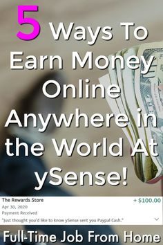 Are you interested in maknig money online? At ySense you can make money anywhere in the world and I'll even show you they are legitimate and pay! Earn More Money, Ways To Earn Money, Earn Money Online, Work From Home Moms, Make Money From Home, How To Make Money, Online Income, Online Earning, World Pay