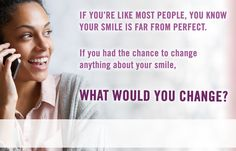 At Quincy Smile Center we want to help you change whatever you don't like about your smile. Call us now by dialing  855 315 7155 to find out how we can improve your smile. #DentistQuincy #ChangeYourSmile