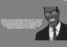 Malcolm X as portrayed in Aaron McGruder's The Boondocks.