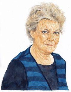 Ritratti per La Repubblica | Riccardo Mannelli Portrait Watercolour, Artists, Art