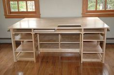 sewing tables | maple sewing table