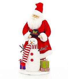 Dillards Trimming 19 Santa and Snowman Figurine #Dillards