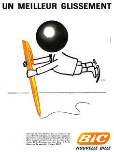 vintage bic pen ad at DuckDuckGo Vintage Advertising Posters, Advertising Slogans, Vintage Advertisements, Vintage Ads, Vintage Posters, Retro Posters, Bic Pens, Classic Movie Posters, Paris Match