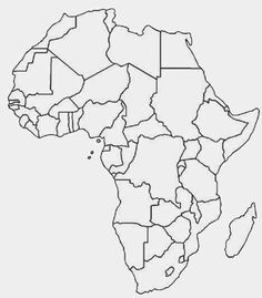 Another Similar But Sleeker Looking Free Printable Political Map Of Africa  In Outline.