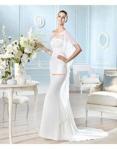 Coda a Strascico Corto Taglie forti Organza Abiti da Sposa Design