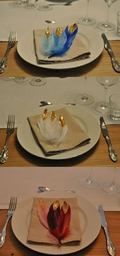 DIY - cute feathers with goldglitter / süsse Federn mit Goldspitze http://wolkesieben-wedding.ch/news/diy-do-it-yourself-goldrausch-federn