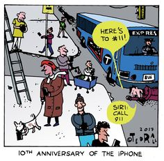 Apple, iPhone 10 years, ten years, 10th anniversary, siri, Steve Jobs, Tim Cook, Smart Phones, connected, distraction