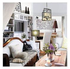 """""""Modern Farmhouse"""" by annmaira ❤ liked on Polyvore featuring interior, interiors, interior design, home, home decor, interior decorating, Adesso and modern"""