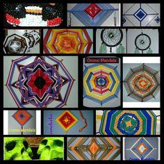 Minhas Mandalas olho de Deus, Filtro dos sonhos e caveira mexicana. Meu trabalho. Facebook Cromo Mandala.