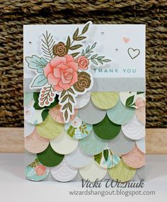 This is a great way to use up some scraps! And it sure is pretty... ;) I used the new CTMH Hello Lovely papers, and the He...