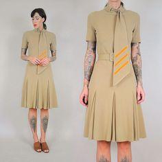 1960's Italian wool dress  new to the shop