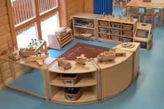 Beautifully enclosed block corner | Asquith Harpenden Pre-school and Day Nursery