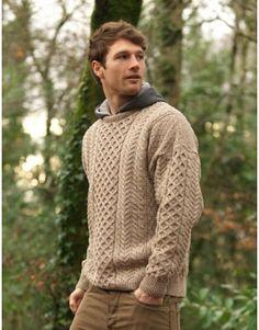 26920fa1 Merino Aran Sweater Turtle Neck, Men Sweater, Sweaters, Fashion, Moda, Men's
