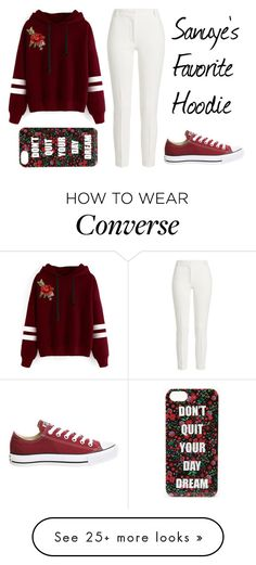 """""""#18"""" by emaura645 on Polyvore featuring WithChic, Joseph, Converse, Forever 21, OC, Hoodies and primary"""