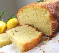 Olive Oil Cake with Rosemary and Lemon Lemon Olive Oil Cake, Lemon Recipes, Savoury Cake, Cornbread, Banana Bread, Basement, Dinner, Ethnic Recipes, Desserts