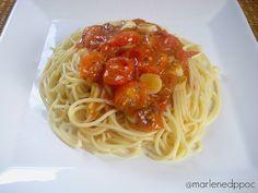 Da Panela para o Coração : Esparguete com molho rápido de tomate cereja