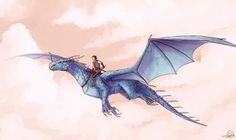 Commission for (aah, Eragon is really small here, but eh, Saphira is not a tiny dragon after all. :°D) Eragon and Saphira Saphira Dragon, Eragon Saphira, Magical Creatures, Fantasy Creatures, Fantasy Dragon, Fantasy Art, Eragon Fan Art, Inheritance Cycle, Christopher Paolini