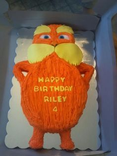The Lorax Birthday Cake - so going to try this for my sons birthday this month!