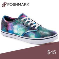 9e71a4aebd9033 Galaxy Vans Bold galaxy ate wood vans Vans Shoes Sneakers Blue Vans