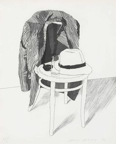 Drawn still life david hockney - pin to your gallery. Explore what was found for the drawn still life david hockney Chair Drawing, Painting & Drawing, Pop Art Movement, Jasper Johns, Museum Of Contemporary Art, Art Graphique, Art Inspo, Art Drawings, Illustrator