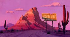Stephen Nicodemus: Scooby Doo Mystery Incorporated: Second Season BG Paintings