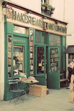 SHAKESPEARE & COMPANY Bookstore.  37 rue de la Bûcherie,  5th arrondissement, Paris, FRANCE. Interesting backstory at: http://en.wikipedia.org/wiki/Shakespeare_and_Company_%28bookstore%29