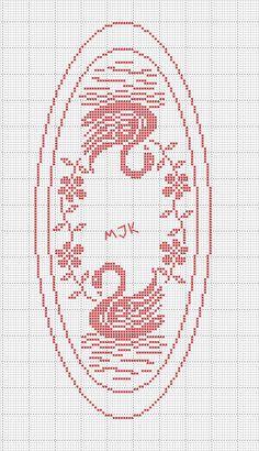 Crochet Patterns Filet, Doily Patterns, Crochet Motif, Crochet Designs, Cross Stitch Patterns, Crochet Filet, Cute Cross Stitch, Cross Stitch Bird, Cross Stitching