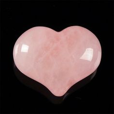 Rose Quartz heart  natural pink crystal gemstone by CoyoteRainbow