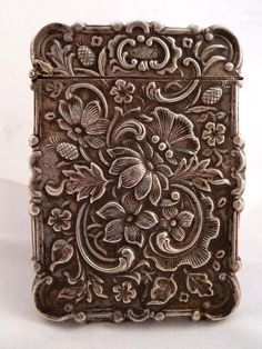Gorgeous Silver American Victorian Calling Card Case