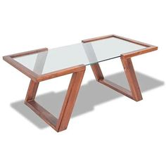 vidaXL Solid Acacia Wood Sofa Side Coffee Tea Table Glass Top Modern Furniture - 8718475992196 For Sale, Buy from Coffee Tables collection at MyDeal for best discounts. Modern Glass Coffee Table, Coffee Table Rectangle, Coffee Table Design, Acacia Wood Flooring, Living Room Wood Floor, Living Rooms, Wood Sofa, Living Furniture, Modern Furniture