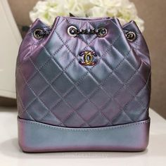 c526d8bf30c Sold out everywhere 💜🦄 (SOLD) Rare Brand New Unworn Chanel Gabrielle  Backpack Iridescent