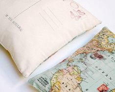 Pillow Cover Personalized [Postcard and World Map] – One for Humanity