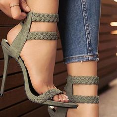 Trendy Nude Suede Sandals