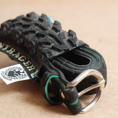 Greenline - recycled bicycle tire belt. $55.00, via Etsy.