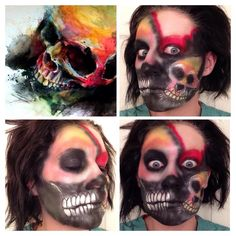 Skull art makeup