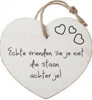 Echte vrienden zie je niet, die staan achter je .van BallonPlus.nl Beautiful Lyrics, All Heart, Love Others, Motto, Slogan, Qoutes, Texts, Letters, Sayings