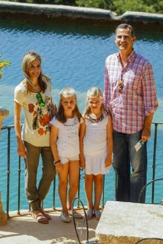 Spanish King Felipe, Queen Letizia visit Finca Raixa in Sierra de Tramontana with their daughters Princess Leonor (L) and Infanta Sofia in Palma de Mallorca, Spain.