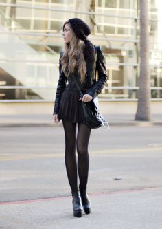 This is sooo me, love the edgy-ness of this look!