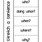 Stretch a Sentence Flip Book Writing Resources, Teaching Writing, Writing Activities, Writing Ideas, Teaching Ideas, Readers Workshop, Writing Workshop, Teaching Language Arts, Speech And Language