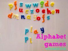 Alphabet games...I Spy my name, etc.