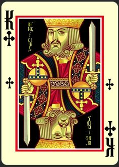 Icons Playing Cards Imperial Edition - King of Clubs | more here: http://playingcardcollector.net/2015/01/20/2015-week-3-upcoming-decks/