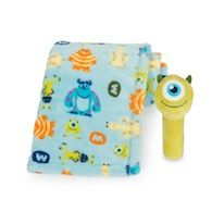 MONSTERS, INC. Mike Printed Blanket and Stick Rattle Set