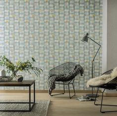 Arthouse Retro Block Teal - 902308 Interlocking geometric shapes in different tones of mainly teal but with hints of white, grey and ochre create this striking retro wallpaper design. Texture Design, Modern Spaces, Wallpaper, Retro Wallpaper, Teal Wallpaper, Geo Wallpaper, Home Art, Retro, Interior Trend