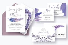 Mythical Feathers Wedding Suite by Knotted Design on @creativemarket