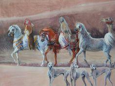 images of arabian horse artwork   ... painting I'm working on atm - Arabian horse art - Gallery - Arabian